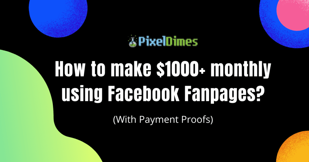 make money with Facebook pages