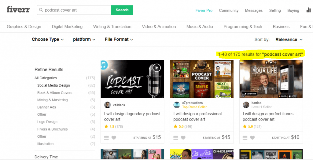 """Search results for """"Podcast Cover Art"""" gigs on Fiverr"""