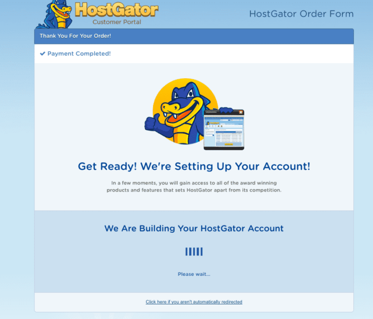 Hostgator - Payment Completed
