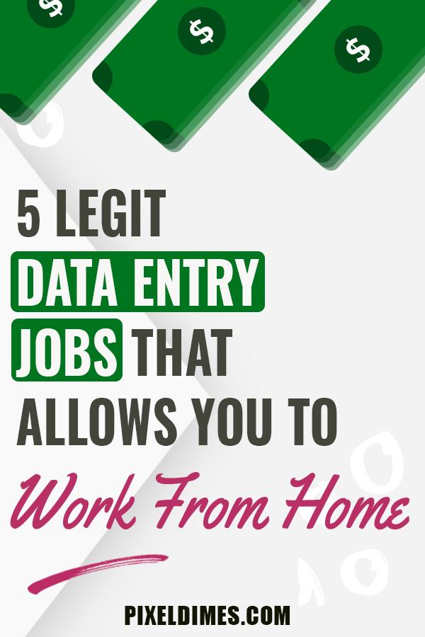Legit Data Entry Jobs