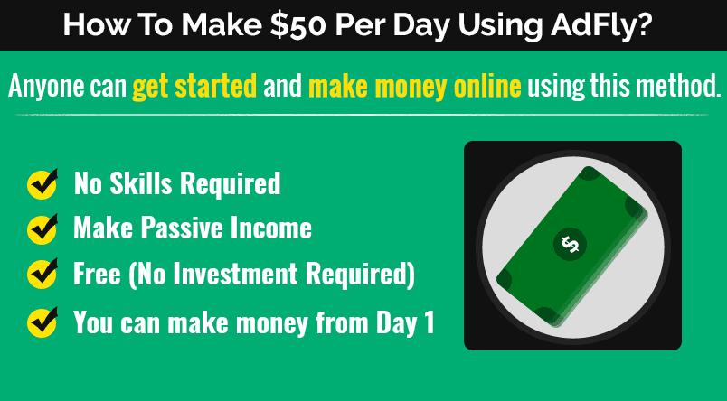 Make $50 per day using AdFly