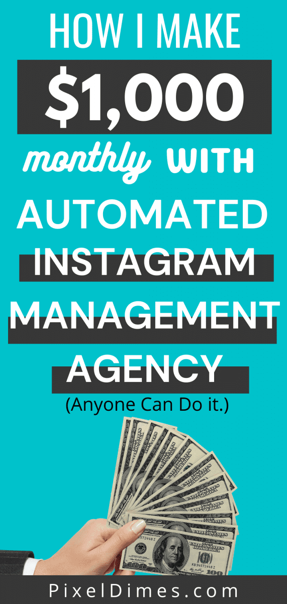 Make money using Instagram Management Agency