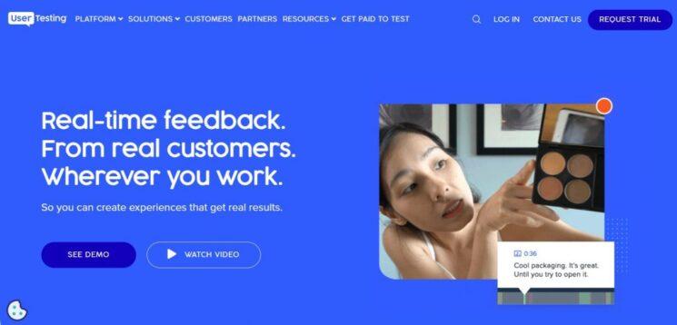 UserTesting.com Homepage 2021