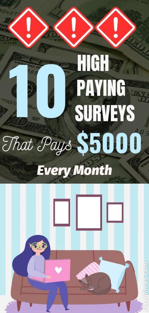 high paying surveys that pays
