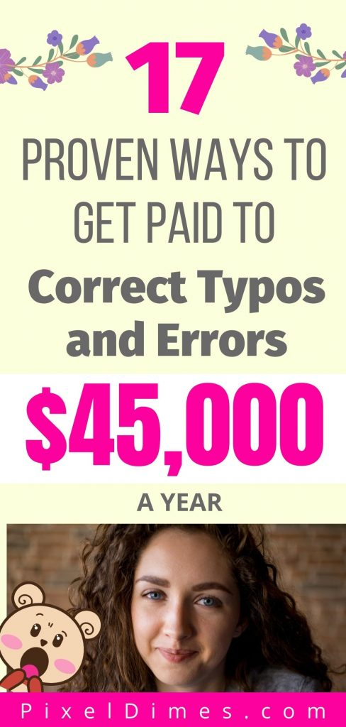 get paid to correct errors