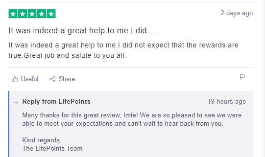 Positive User Reviews
